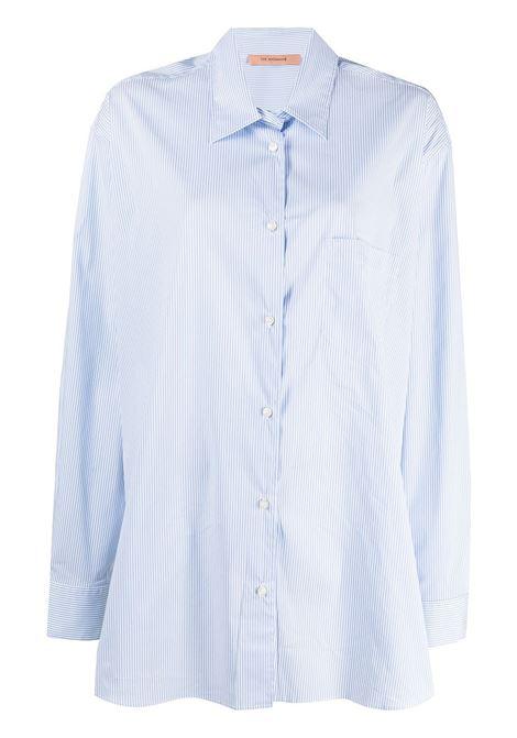 The Andamane camicia oversize a righe donna cielo white THE ANDAMANE | Camicie | T090901BTNC118808