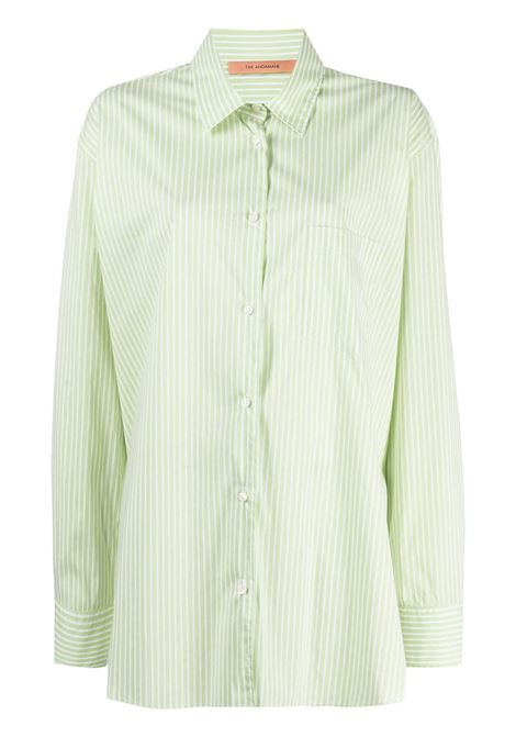 The Andamane camicia oversize a righe donna green white THE ANDAMANE | Camicie | T090901BTNC118866
