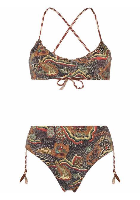 Reversible animal print bikini mix africa ANJUNA | Swimwear | LEADMAFR