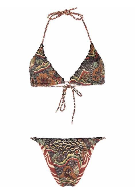 Reversible animal print bikini mix africa ANJUNA | Swimwear | VITADMAFR
