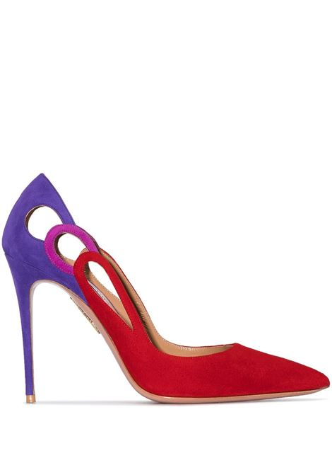 Colour-block 105mm suede pumps AQUAZZURA | Pumps | FEXHIGP0SUELXP