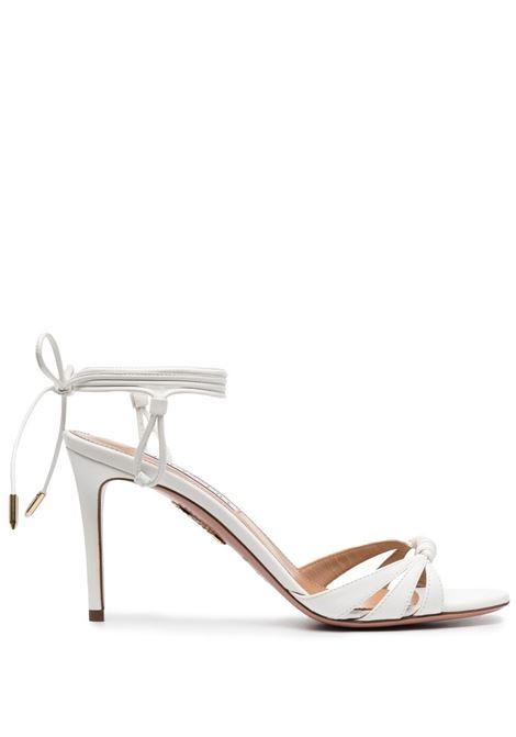Aquazzura twist-detail sandals women white AQUAZZURA | SOLMIDS1NAPFFF