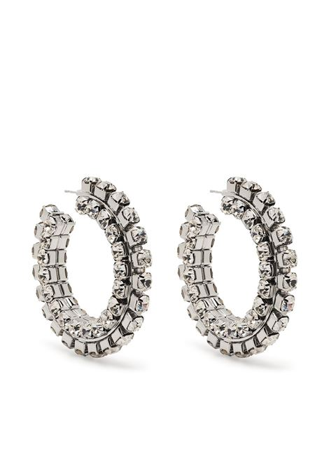 Pavé crystal hoops earrings AREA | Earrings | RE21A01CLRSLVR