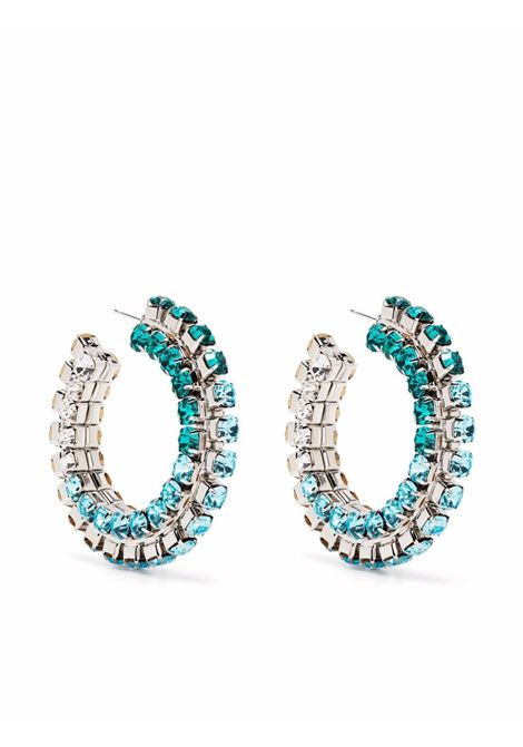 Area crystal-embellished earrings women aqua ombre AREA | Earrings | SS21A04AQUOMBR