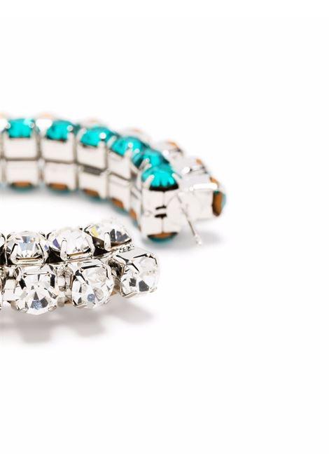 Area crystal-embellished earrings women aqua ombre AREA | SS21A04AQUOMBR