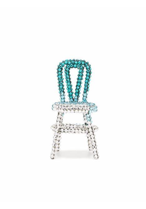 Crystal-embellished chair earring - women AREA   Earrings   SS21A18AQUOMBR