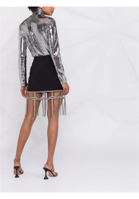 Minigonna con frange di strass Donna AREA | SS21S01032BLK