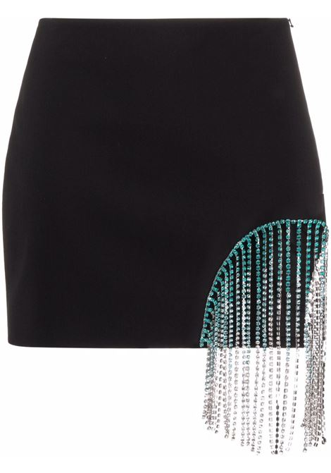 Area fringed mini skirt women black AREA | Skirts | SS21S02032BLK