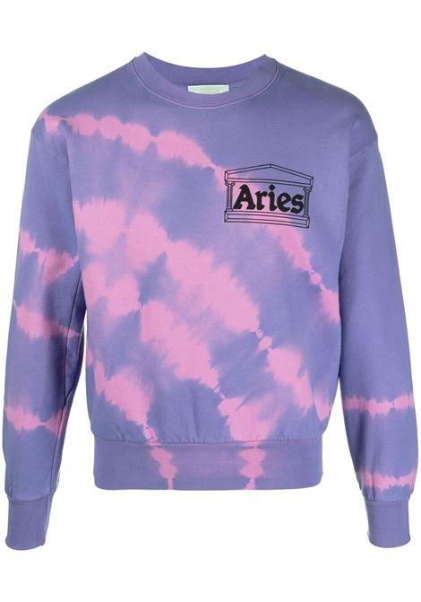 Aries tie dye sweatshirt unisex lilac ARIES | Sweatshirts | SRAR20201LLC