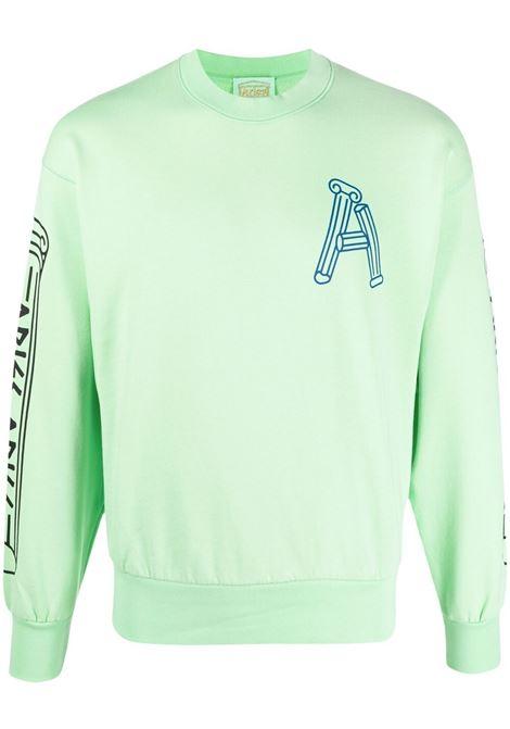 Aries greek column sweatshirt men aqua ARIES | Sweatshirts | SRARS20004AQUA