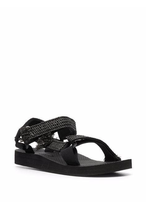 Trekky sandals women rafia black ARIZONA LOVE | TREKKYRAFIAUPPERRFBLK