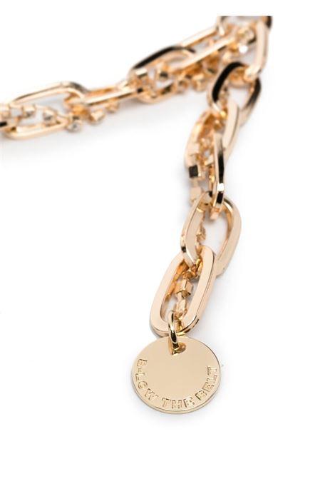 B-low the belt charm-detail belt women gold B-LOW THE BELT   BH833030CHGLD
