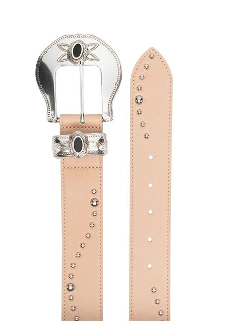 B-low the belt stud-embellished belt nude silver B-LOW THE BELT   BW821000LE