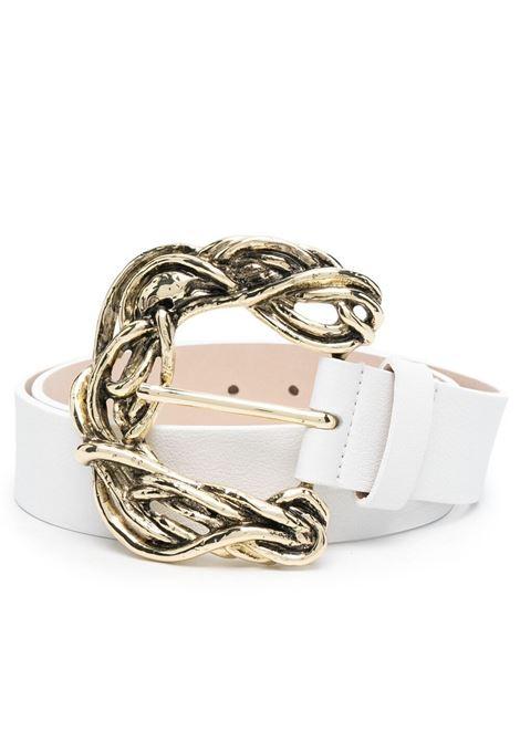 B-low the belt cintura con fibbia incisa white gold B-LOW THE BELT | Cinture | BW836000LEWHT