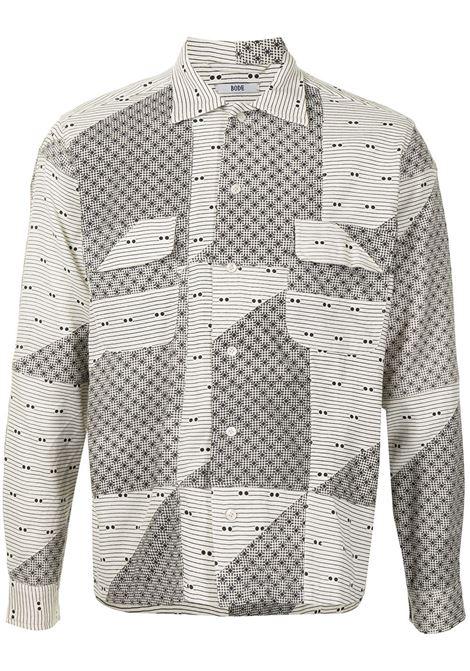 Bode patchwork-design shirt men black multi BODE | MR22SH06C001099