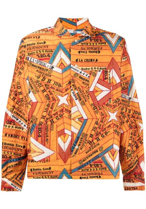 Bode camicia con stampa uomo marigold BODE | Camicie | MR22SH06S003520