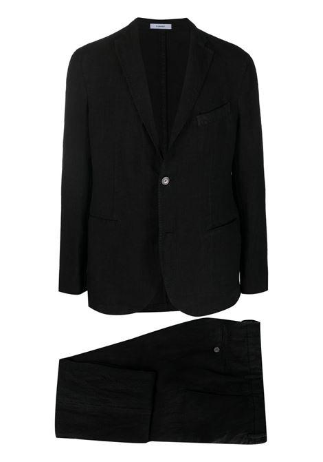 Completo due pezzi lino in nero - uomo BOGLIOLI | Completi | N11L2QBLC4260990