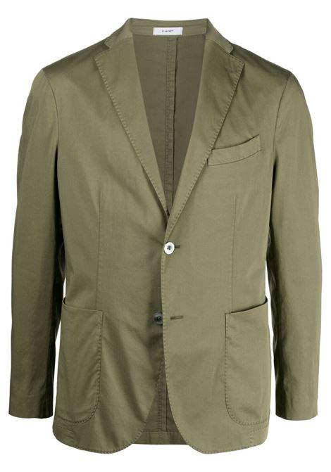 Boglioli blazer monopetto sartoriale uomo verde BOGLIOLI | Giacche | N1302QBNC4000569