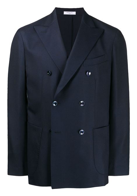 Boglioli blazer doppiopetto uomo blu BOGLIOLI | Giacche | N4302EBAS5340780