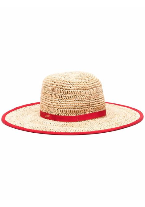 Sun hat women rosso BORSALINO | Hats | 2322447146