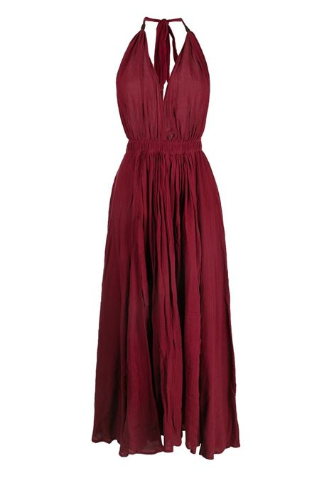 Long halterneck cotton-blend dress CARAVANA | Dresses | 34AA12102810620