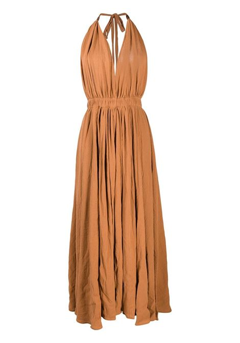 Long halterneck cotton-blend dress CARAVANA | Dresses | 34AA12102810801
