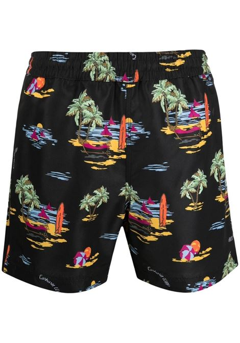 Carhartt swimming trunks men black print CARHARTT | Swimwear | I0158120BE0003BLKPRNT