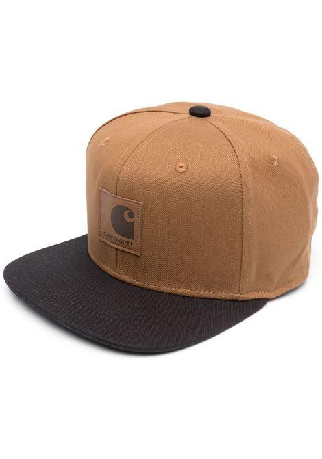 Carhartt logo baseball cap men brown black CARHARTT | Hats | I025735HZ0006BRWNBLK