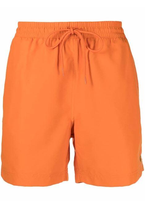Carhartt logo swim shorts men hokkaido gold CARHARTT | I0262350AN9003HKKDGLD