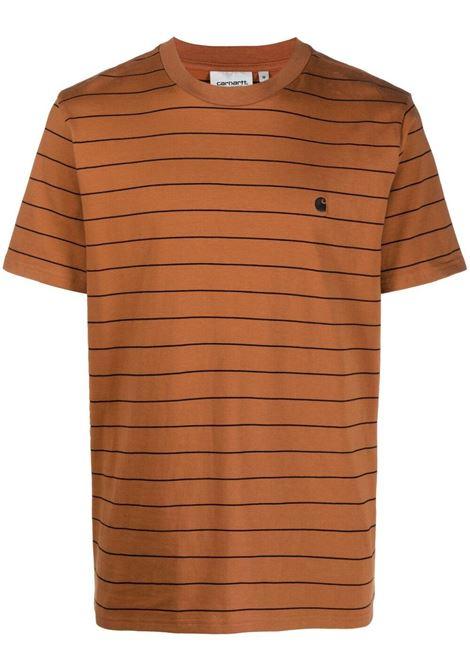 Carhartt striped t-shirt men rum black CARHARTT | T-shirt | I0289250AB9003RMBLK