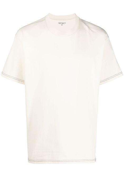 Carhartt contrast-stitching T-shirt men natural CARHARTT | T-shirt | I029009059003NTRLBLK