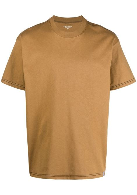 Carhartt t-shirt men brown black CARHARTT | T-shirt | I029009HZ9003BRWNBLK