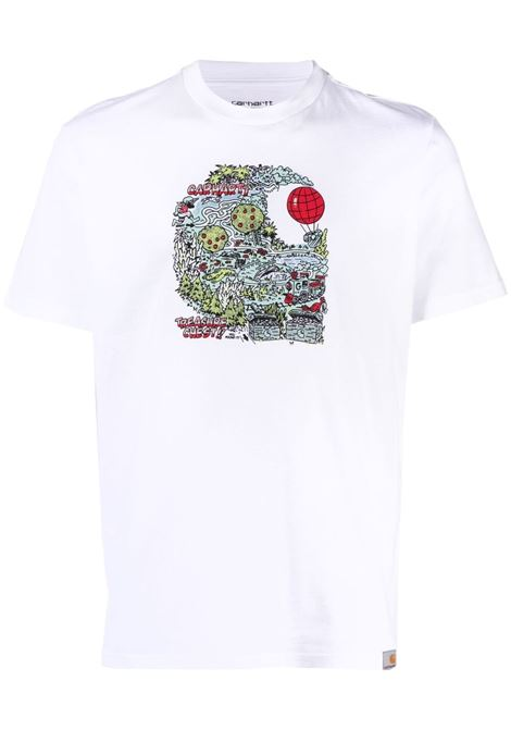 Carhartt graphic print t-shirt men white CARHARTT | T-shirt | I029021020003WHT