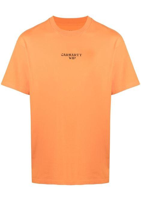 Carhartt logo t-shirt men hokkaido black CARHARTT | T-shirt | I0290350AN9003HKKDBLK