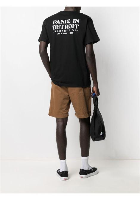 Carhartt panic in detroit t-shirt men black white CARHARTT | I029035899003BLKWHT