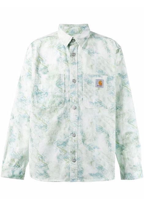 Carhartt painterly-print shirt men marble print CARHARTT | I0291680DD0603MRBLPRNT