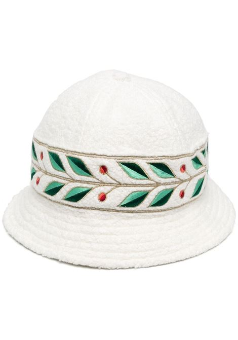 Cappello bucket con ricamo CASABLANCA | Cappelli | AS21HAT004ECR