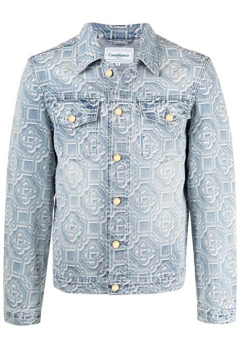 Jacket with jacquard effect  CASABLANCA | MS21JK003SNBLCHD