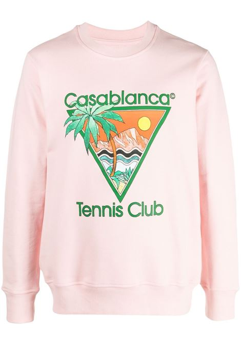 Felpa Tennis Club Uomo CASABLANCA | Felpe | MS21JTP001PNKTNNSCLB