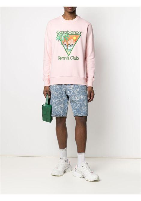 Tennis club sweatshirt  CASABLANCA | MS21JTP001PNKTNNSCLB