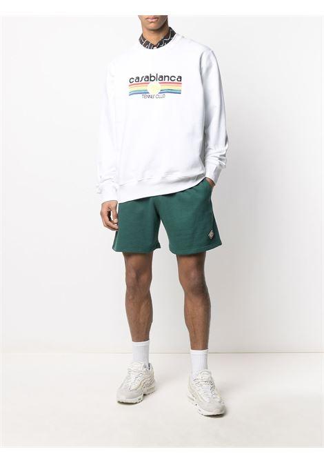 logo sweatshirt CASABLANCA | MS21JTP001WHTTNNSSTRP