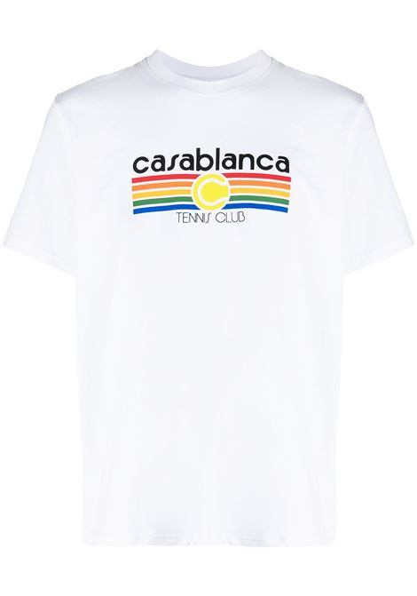 Tennis Club T-shirt CASABLANCA | T-shirt | MS21TS001WHTTNNSSTP