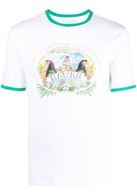 T-shirt con stampa Uomo CASABLANCA | T-shirt | MS21TS003WHTHWI