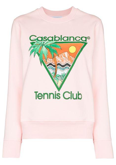 Felpa Tennis Club con logo Donna CASABLANCA | Felpe | WS21JTP019PNKTNNSCLB