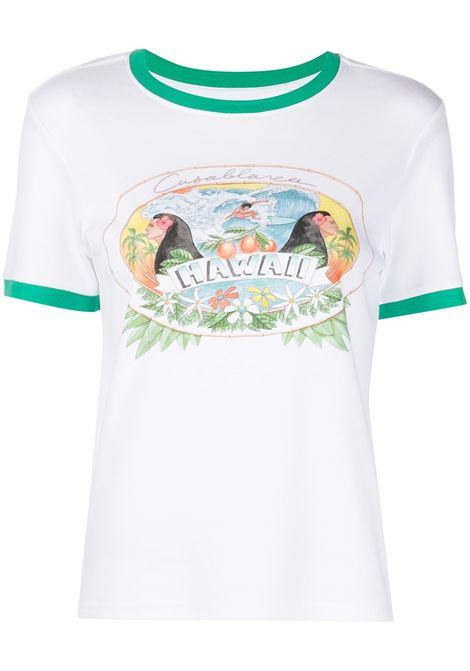 T-shirt con stampa Donna CASABLANCA | T-shirt | WS21TS004WHTHW