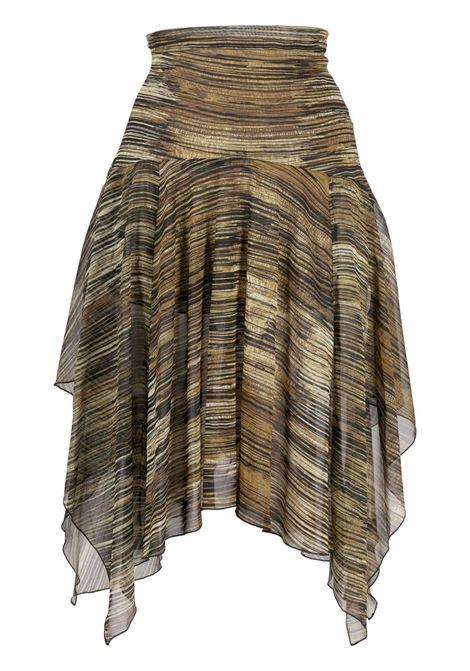 Charlotte knowles asymmetric skirt women black CHARLOTTE KNOWLES | Skirts | KRS0HSBBLK