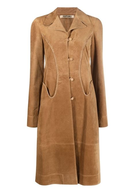 Charlotte knowles braided long coat women tan CHARLOTTE KNOWLES | Outerwear | WHIPC0TANTN