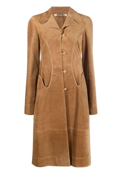 Charlotte knowles braided long coat women tan KNWLS | Outerwear | WHIPC0TANTN