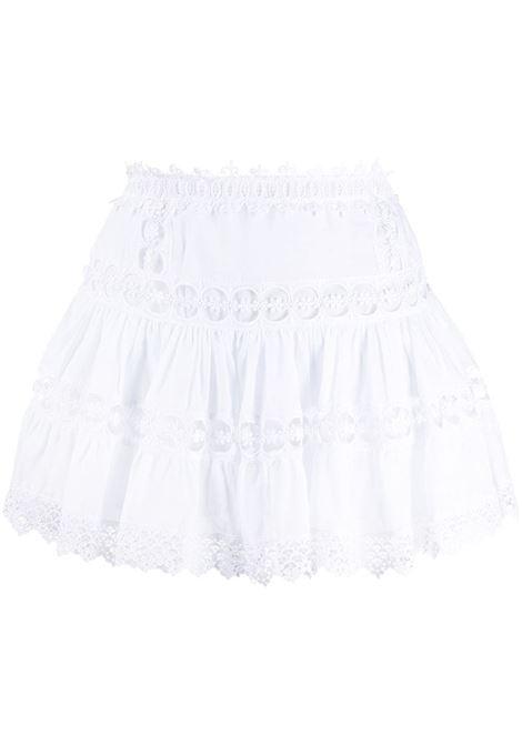 Broderie-trimmed mini skirt CHARO RUIZ IBIZA 1989 | Skirts | 201400WHT