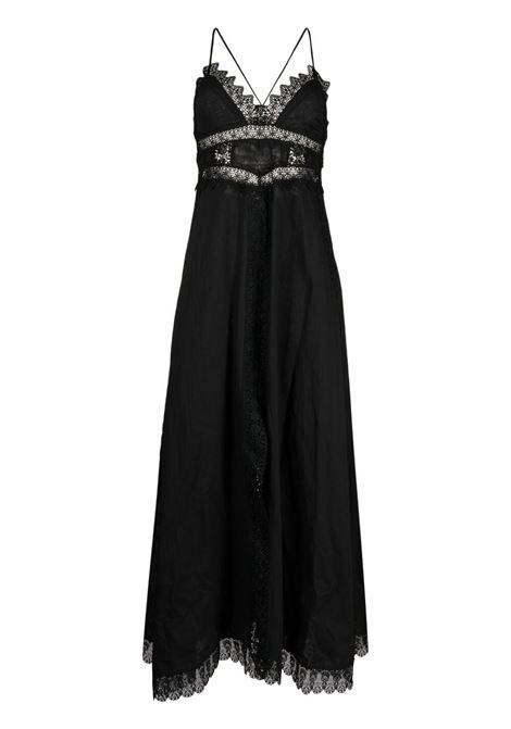 Lace-trimmed maxi dress CHARO RUIZ IBIZA 1989 | Dresses | 201626BLK